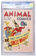 Golden Age (1938-1955):Funny Animal, Animal Comics #2 File Copy (Dell, 1943) CGC VF- 7.5 Cream tooff-white pages....