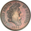 Patterns, 1859 P50C Half Dollar, Judd-242, Pollock-298, R.5, PR64 BrownNGC....