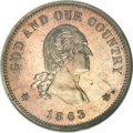 Patterns, 1863 2C Two Cents, Judd-310, Pollock-375, Low R.7, PR64 NGC....