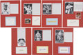 Autographs:Index Cards, Baseball Greats Signed and Mounted Signatures Lot of 7.... (Total:7 items)