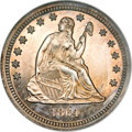 Patterns, 1864 25C Quarter Dollar, Judd-386, Pollock-454, Low R.7, PR64NGC....