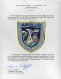 Autographs:Celebrities, Apollo 10 Lunar Module Flown Embroidered Crew Patch Originally from the Collection of Mission Commander Thomas P. Stafford....