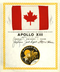 Explorers:Space Exploration, Apollo 13 Flown National Flag of Canada from the PersonalCollection of Mission Commander James Lovell. ...