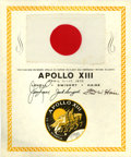 Explorers:Space Exploration, Apollo 13 Flown National Flag of Japan from the Personal Collectionof Mission Commander James Lovell. ...