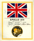 Explorers:Space Exploration, Apollo 13 Flown National Flag of Great Britain from the PersonalCollection of Mission Commander James Lovell....