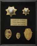 Movie/TV Memorabilia:Awards, Glenn Ford's Honorary New Mexico State Police Badges....