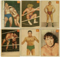Non-Sport Cards:General, 1954-55 Parkhurst Wrestling Complete Set (75)....