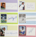 Autographs:Index Cards, Baseball Cut Signatures Collection. (31) ... (Total: 31 items)