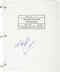 Explorers:Space Exploration, Apollo 17 Command Module Flown CSM Malfunction Procedures BookSigned by and from the Personal Collection Mission Commander Ge...