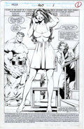 Original Comic Art:Splash Pages, Gary Frank and Cam Smith The Incredible Hulk #407, Splashpage 1 Original Art (Marvel, 1993)....