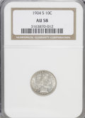 Barber Dimes: , 1904-S 10C AU58 NGC. NGC Census: (6/48). PCGS Population (3/58). Mintage: 800,000. Numismedia Wsl. Price for NGC/PCGS coin ...