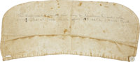 [Abraham Lincoln] Lincoln's Bloodstained Shirt Cuff, With the Period Diary of its Owner, John T. Farnham. The relic i