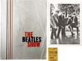 Music Memorabilia:Autographs and Signed Items, Beatles Signed Tour Book with Photo and Ticket Stub.... (Total: 3Items)