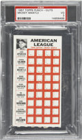 Baseball Cards:Singles (1960-1969), 1967 Topps Punch-outs Mickey Mantle PSA VG 3....
