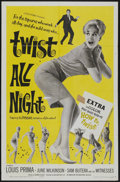 "Movie Posters:Rock and Roll, Twist All Night (American International, 1962). One Sheet (27"" X41""). Rock and Roll...."