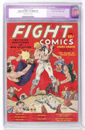 Golden Age (1938-1955):Miscellaneous, Fight Comics #1 Mile High pedigree (Fiction House, 1940) CGC Apparent NM+ 9.6 Slight (P) Off-white to white pages....