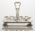 Silver Holloware, American:Other , AN AMERICAN SILVER AND SILVER GILT BOTTLE HOLDER. Tiffany & Co., New York, New York, circa 1881. Marks: TIFFANY & CO., 638...