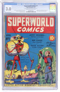 Golden Age (1938-1955):Science Fiction, Superworld Comics #1 (Hugo Gernsback, 1940) CGC GD/VG 3.0 Cream tooff-white pages....