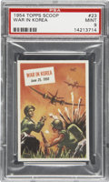 "Non-Sport Cards:General, 1954 Topps Scoop #23 ""War In Korea"" PSA Mint 9...."
