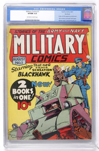 Military Comics #1 Rockford pedigree (Quality, 1941) CGC VF/NM 9.0 Off-white to white pages