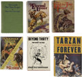 Books:Fiction, Edgar Rice Burroughs. Six Titles, Including One Biography,...(Total: 6 Items)