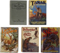 Books:First Editions, Edgar Rice Burroughs. Five First Edition Pellucidar Titles,...(Total: 5 Items)