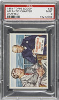 "Non-Sport Cards:General, 1954 Topps Scoop #26 ""Atlantic Charter Drafted"" PSA Mint 9...."