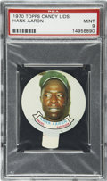 Baseball Cards:Singles (1970-Now), 1970 Topps Candy Lids Hank Aaron PSA Mint 9....