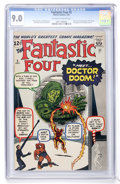 Silver Age (1956-1969):Superhero, Fantastic Four #5 (Marvel, 1962) CGC VF/NM 9.0 Off-white to white pages....