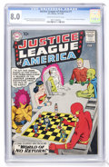 Silver Age (1956-1969):Superhero, Justice League of America #1 (DC, 1960) CGC VF 8.0 Cream tooff-white pages....