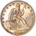 Patterns, 1838 P50C Seated Liberty Half Dollar, Judd-76A Restrike,Pollock-82, R.8, PR66 NGC....