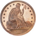 Patterns, 1863 $1 Dollar, Judd-346, Pollock-418, R.7, PR66 ★ Red and Brown Cameo NGC....