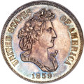Patterns, 1859 P50C Half Dollar, Judd-245, Pollock-303, R.7, PR64 NGC....
