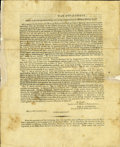 "Autographs:U.S. Presidents, [Louisiana Purchase] - ""An Act to provide for designating,surveying, and granting the Military Bounty Lands."" Two pageprin..."