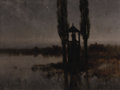 Fine Art - Painting, European:Modern  (1900 1949)  , JOZEF RAPACKI (Polish, 1871-1929). Nocturnal Marshland,1918. Oil on canvas. 29-1/2 x 39-1/2 inches (74.9 x 100.3 cm). S...