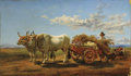 Fine Art - Painting, European:Antique  (Pre 1900), ARTHUR JOHN STRUTT (British, 1819-1888). Haymaking, 1857. Oil on canvas. 25-1/4 x 43-1/4 inches (64.1 x 109.9 cm). Signe...