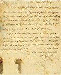 "Autographs:Statesmen, Elbridge Gerry Autograph Letter Signed ""Elbridge Gerry,"" onepage, 7.25"" x 9"". Mar[ble] Head, Massachusetts, September 2..."
