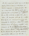 """Autographs:Inventors, Samuel Morse Unsigned Autograph Draft. One page, two sided, on pale-blue lined paper 8"""" x 10"""", n.p., n.d. [circa 1843]...."""