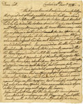 """Autographs:Military Figures, [Revolutionary War] John Armstrong Autograph Letter Signed. Two pages, 6.5"""" x 8"""", Carlisle, January 28, 1778, to """"Coll. L..."""