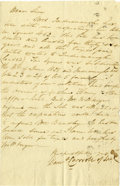 "Autographs:Statesmen, Daniel Carroll Letter Signed ""Danl Carroll of Dud."" Onepage, 5"" x 7.5"", [Maryland], n.d. [though not before 1828], to..."