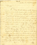 "Autographs:Statesmen, Edward Livingston Autograph Letter Signed. Five pages, 8"" x 9.5"",New Orleans, February 4, 1823, to Henry Dearborn... (Total: 4Items)"