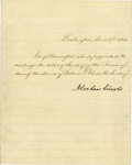"""Autographs:U.S. Presidents, Abraham Lincoln Manuscript Executive Order Signed as President. Onepage, on blue-lined paper, 8"""" x 10"""", Washington, D.C., A..."""