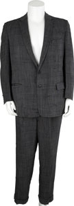 Autographs:Celebrities, [Jack Ruby] Suit. One of Ruby's original gray two-piece suits comeswith handwritten note of provenance by his brother, Ear... (Total:2 Items)