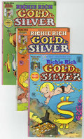 Bronze Age (1970-1979):Cartoon Character, Richie Rich Gold and Silver #1-5 File Copy Group (Harvey, 1975-76)Condition: Average NM-.... (Total: 5 Comic Books)