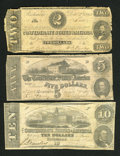 Confederate Notes:1862 Issues, Three Confederate Monetary Soldiers.. ... (Total: 3 notes)