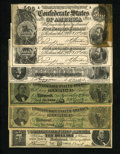 Confederate Notes:Group Lots, Six Facsimile Confederate Ad Notes.. ... (Total: 6 notes)