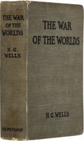 Books:First Editions, H. G. Wells. The War of the Worlds. London, WilliamHeinemann, 1898....