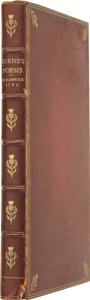 Books:Fiction, Robert Burns. Poems, Chiefly in the Scottish Dialect.Kilmarnock: D. Brown & Co., 1909....