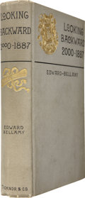 Books:First Editions, Edward Bellamy. Looking Backward 2000-1887. Boston:Ticknor and Company, 1888....