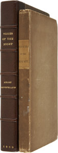 Books:First Editions, Henry Wadsworth Longfellow. Voices of the Night. Cambridge:John Owen, 1839....